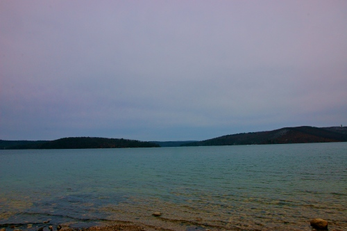 The separation of Quabbin Park from the Southern tip of Prescott Peninsula